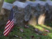 USA Cemetery Flag in Macro View